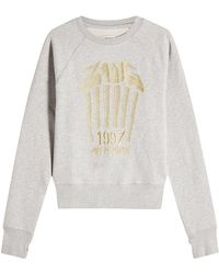 Zadig & Voltaire - Embroidered Cotton Sweatshirt - Lyst