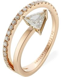 Delfina Delettrez - Marry Me 18kt Pink Gold Ring With Diamonds - Lyst