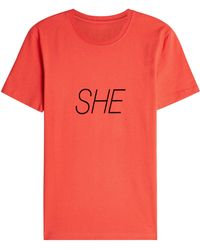 Paco Rabanne - Peter Saville She Printed Cotton T-shirt - Lyst