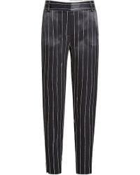 DKNY - Satin Pinstripe Trousers - Lyst