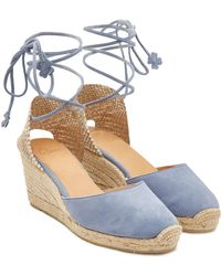 Castaner - Carina 60 Canvas Wedge Espadrilles With Suede - Lyst