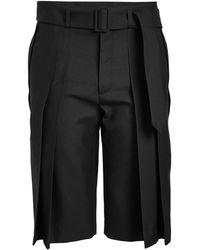 Saint Laurent Virgin Wool Shorts - Black