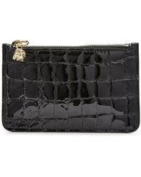 Alexander McQueen - Embossed Leather Key Pouch - Lyst