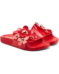 101358b7d840f Marc Jacobs - Rubber Slides With Flowers - Lyst