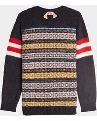 N°21 Pullover aus Wolle und Mohair - Mehrfarbig