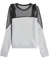 RED Valentino - Tulle Sweatshirt - Lyst