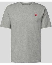 WOOD WOOD T-Shirt mit Brand-Detail - Grau