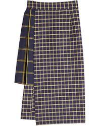 Sea - Printed Cotton Asymmetric Skirt - Lyst