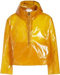 Jil Sander - Portland Half Zip Rain Jacket With Hood - Lyst