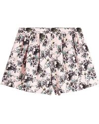 Boutique Moschino - Printed Cotton Shorts - Lyst