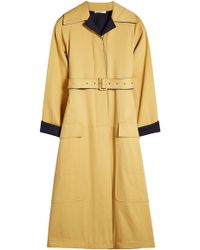 Céline - Cotton Coat With Wool Lining - Lyst