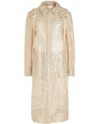 Christopher Kane - Metallic Lace Coat With Hood - Lyst