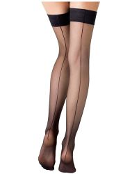 Fogal - Stay-up Stockings With Seams - Lyst