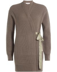 Helmut Lang | Ribbed Wool-cashmere Cardigan Wrap | Lyst