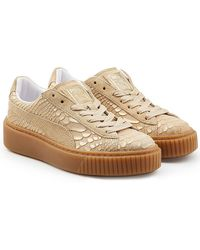 PUMA | Textured Leather Creeper Trainers | Lyst