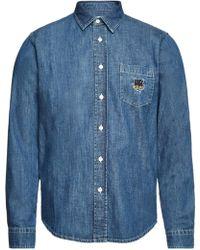 KENZO - Denim Shirt - Lyst