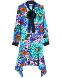 Mary Katrantzou - Printed Silk Dress - Lyst