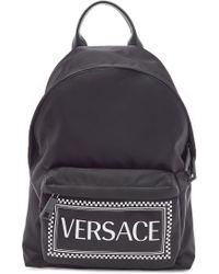 Versace - Printed Backpack - Lyst