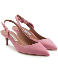 Tabitha Simmons - Rise Suede Kitten Heel Court Shoes - Lyst