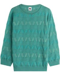 M Missoni - Wool Blend Pullover - Lyst