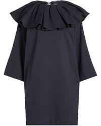 Nina Ricci - Jersey Dress With Ruffled Collar - Lyst