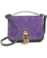 Carven - Big Sac Charms Suede Handbag With Leather - Lyst