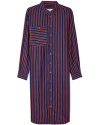 Closed - Abiola Striped Shirt Dress With Silk - Lyst