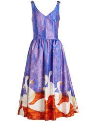 Stella Jean - Robe en coton imprimé - Lyst