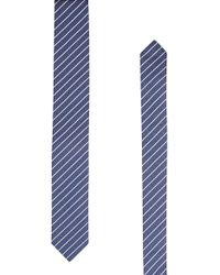 HUGO - Striped Silk Tie - Lyst