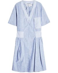 Carven - Striped Cotton Tunic Dress - Lyst