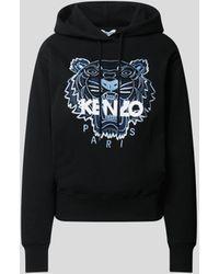 KENZO Hoodie mit Label-Detail - Schwarz