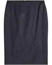 HUGO - Textured Pencil Skirt - Lyst