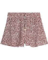 Anine Bing - Printed Silk Ashley Shorts - Lyst