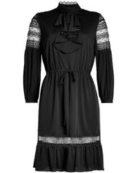 Anna Sui - Crepe Dress With Lace Panels - Lyst