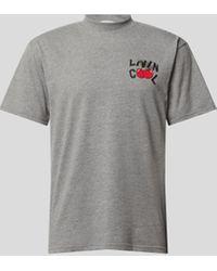 LIVINCOOL T-Shirt mit Label-Print - Grau