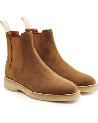 Common Projects | Suede Chelsea Boots | Lyst
