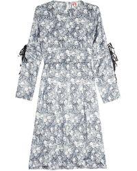 Shrimps - Printed Silk Dress - Lyst