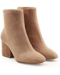 Ferragamo - Suede Ankle Boots - Lyst