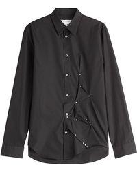 Maison Margiela - Embellished Cotton Shirt - Lyst
