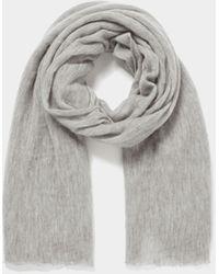 Botto Giuseppe Unisex Schal aus Kaschmir - Grau