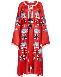 MARCH11 - Astrid Embroidered Linen Maxi Dress - Lyst