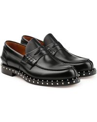 Valentino - Rockstud Leather Loafers - Lyst