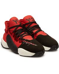 Y-3 - Byw Ball Red And Black Boost Trainer - Lyst