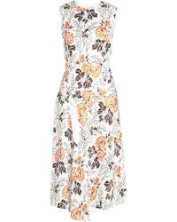 Victoria Beckham - Printed Silk-blend Dress - Lyst