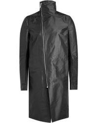 Rick Owens - Coat With Asymmetric Zipper - Lyst