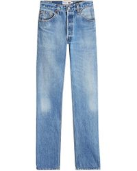 RE/DONE - The Cindy High Rise Straight Leg Jeans - Lyst