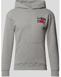 LIVINCOOL Hoodie mit Brand-Detail - Grau