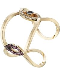 Delfina Delettrez - 18kt Gold Ring With Rubies, Diamonds And Sapphire - Lyst