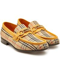 4b873fe9d38 Lyst - Burberry Bedmont Leather Penny Loafers in Red for Men
