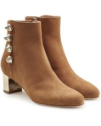 Malone Souliers - Embellished Suede Ankle Boots - Lyst